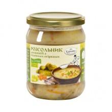 Розсольник домашній із соленими огірками